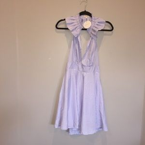 Blue tea n cup Los Angeles dress NWT size S